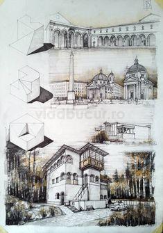 Subiecte – Page 3 – Vlad Bucur Geometry Architecture, Architecture Sketchbook, Architecture Board, Architecture Student, Architecture Design, Building Drawing, Building Sketch, Architecture Presentation Board, Presentation Layout