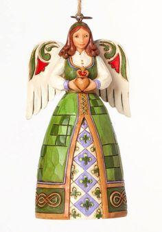 JIM SHORE~IRISH CLADDAGH ANGEL ORNAMENT~IRELAND~HEART~4041118  - http://collectiblefigurines.net/jim-shore/angels/jim-shoreirish-claddagh-angel-ornamentirelandheart4041118/