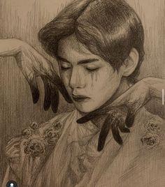 Taehyung Fanart, Vkook Fanart, Kpop Drawings, Bts Chibi, Bts Pictures, Aesthetic Art, Boy Art, Bts Wallpaper, Art Inspo