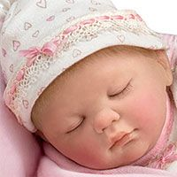 Lullaby And Goodnight Baby Doll With Basket and Musical Pillow | Lifelike Baby Dolls