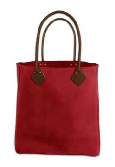 Rhino Totes RT-SB700 Tinted Suede Leather Womens Tote Bag, Leather Handles, Fire Red on Etsy, $95.00