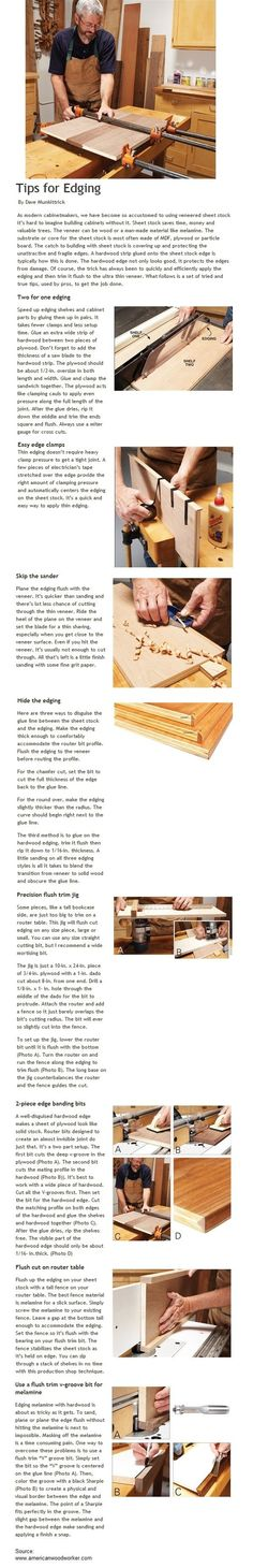 8 Tips for Edging | WoodworkerZ.com