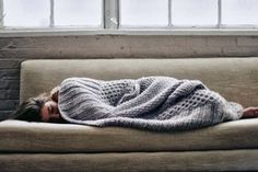 cocooning on the sofa