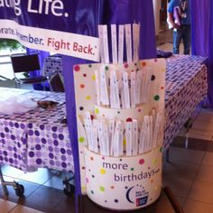 **Relay for Life... Celebrating More Birthdays! Maybe have survivors add their name to your cake??