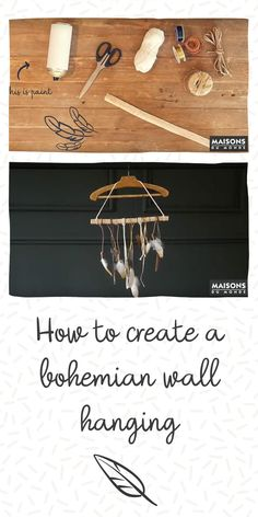 Get down and crafty with this DIY feathered mobile tutorial inspired by our A/W new look Nordic Escape. The Nordic Escape look takes inspiration from around . Feather Mobile, Do It Yourself Home, Diy Videos, Home Accessories, Crafty, Creative, Wall, Painting, Inspiration