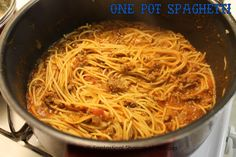 One Pot Spaghetti - with an ingredient that you normally don't find in spaghetti that blows it out of the water...Annnd, the noodles cook in the sauce so no boiling water or dragging out the colander!