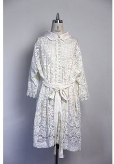 Vintage Dress / ShopStyle: Balcony and Bed *VINTAGE LACE ワンピース