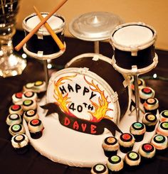 Drum set cake for Dad's 50th!!!