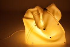 #RI_USO #mutamenti. Installazione luminosa / lampada prodotta con materiali riciclati. #green #design #milan