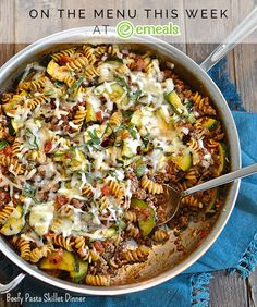 Beefy Pasta Skillet Dinner from eMeals