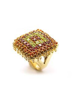 Garavelli Multi Color Stone Navajo Ring