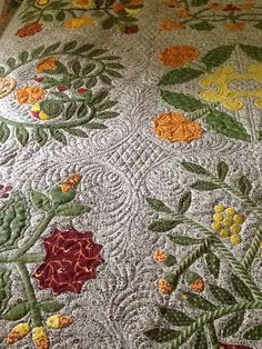 Bev Bannard is an amazing and prolific sewer. Her stitching is always beautiful and her quilts are just stunning. This is Bev's 'Ann D...