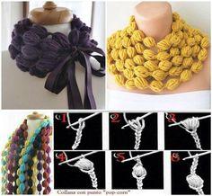 Crochet easy Puff Ball Scarf. Video tutorial--> http://wonderfuldiy.com/wonderful-diy-crochet-puff-ball-scarf/