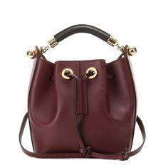 Gala Small Leather Bucket Bag ∇ Chloé : mytheresa.com