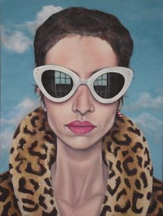 self portrait by Leila Haghighi_oil on canvas