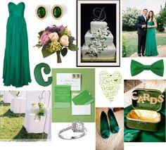 2013 Wedding Color: Emerald Green Wedding Inspiration  #wedding #design