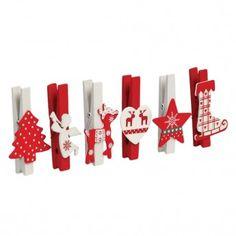 Scandinavian Christmas Pegs (set of 6)