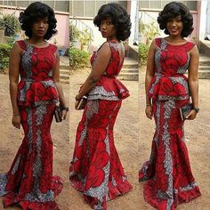 Classy picture collection of Beautiful Ankara Skirt And Blouse Styles These are the most beautiful ankara skirt and blouse trending at the moment. If you must rock anything ankara skirt and blouse styles and design. African Print Dresses, African Fashion Dresses, African Dress, African Prints, Ankara Fashion, African Outfits, African Clothes, African Lace, African Fabric
