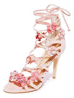 Marchesa Floral applique sandals RHtFj9z6