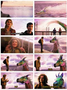 Percy Jackson  ...  Sea of Monsters.   They didn't let Tyson name it Rainbow....  :'(