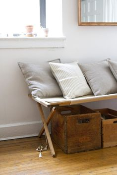 Trend Alert: 10 Canvas Camp Cots as Instant Daybed | Erin Boyle Canvas Cot | Remodelista