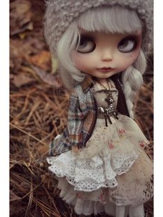 Little fawn necklace nature doll