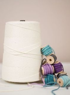 Did you know you could hand dye cotton twine?  Of course you did, but you probably didn't know it was easy.  Well, it is and here's how.