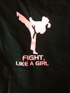 Fight Like a Girl Gear Karate Shotokan, Kenpo Karate, Karate Quotes, Tang Soo Do, Learn Krav Maga, Mma Fighting, Ju Jitsu, Karate Girl, Warrior Girl