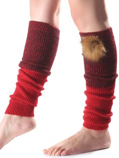 Faux Mink Hair Knit Leg Warmers
