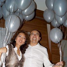 Bodas de Pérola - 30 anos de casamento - Festa - Como organizar - Balões de Gás Hélio -As Filhas da Lu