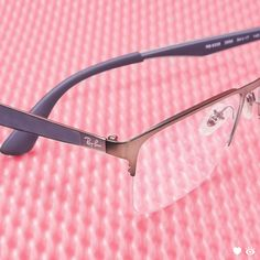 48a02428143 Matte metal textured temples against the semi-rimless frame make for a  subtle and trendy look on these square Ray-Ban glasses.
