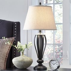 Jcp home collection jcpenney home set of 2 cage table lamps in find this pin and more on lamps by suekington jcpenney aloadofball Images