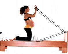 Don't let pregnancy stop you from doing these great Pilates exercises! www. - Don't let pregnancy stop you from doing these great Pilates exercises! www. Prenatal Pilates, Pregnancy Pilates, Pilates Body, Prenatal Workout, Mommy Workout, Pilates Reformer, Pregnancy Workout, Pilates Workout, Pilates Quotes