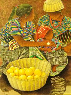 "David Ordoñez, ""Rabinal"", Pintura al Óleo, GUATEMALA"