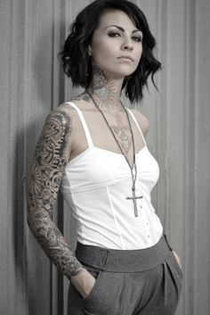 I love this picture because it shows, beautiful women with tattoos are still beautiful