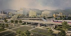 A rendering of the original Main Street SkyTrain station in Pictures Of The Week, Environmental Issues, Commercial Vehicle, Main Street, British Columbia, Vancouver, Paris Skyline, Fun Facts, Transportation