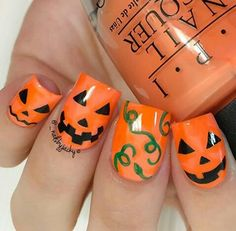 Halloween nails on We Heart It