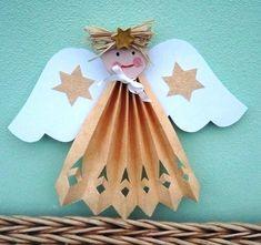 Christmas Bazaar Crafts, Holiday Crafts, Holiday Fun, Christmas Time, Fun Crafts, Crafts For Kids, Arts And Crafts, Angel Ornaments, Christmas Ornaments