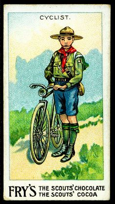 Trade Card - Boy Scout - Cyclist by cigcardpix, via Flickr