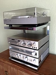 My Pioneer Series 3000 mini system is almost complete! Recording Equipment, Audio Equipment, Technics Hifi, Pioneer Audio, Audio Stand, Audio Rack, Retro, Subwoofer Box, Diy Kitchen Storage