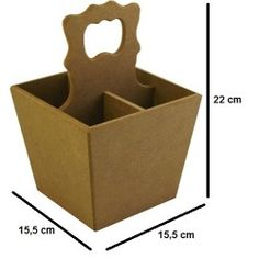 Ham Ahşap Kaşıklık 15,5x15,5x22 cm