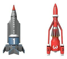 """Hornby #""""corgi #thunderbirds tb1 and tb3"""" die cast #model (grey/red),  View more on the LINK: http://www.zeppy.io/product/gb/2/122190203411/"""