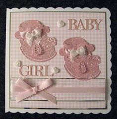 Made by Sandra Fairclough #tatteredlace #babygirlcard