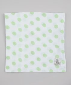 Celadon Muslin New Dot Receiving Blanket
