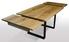 Tisch mit Baumknte Eiche - Breite 100cm / Länge wählbar Unsere ausziehbaren Esstische sind zum einen hohwertig verarbeitet, als auch aus nur ausgesuchten Hölzern (A Qualität) hergestellt. Wir legen großen Wert...