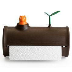 Logn Roll | Qualy Design Shop | Design Küchenrollenhalter bei GESCHENKE FÜR FREUNDE