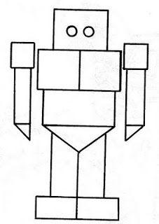 dibujos de las figuras geometricas para colorear robot