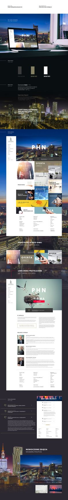 Polish Real Estate Holding website / PHN SA on Behance