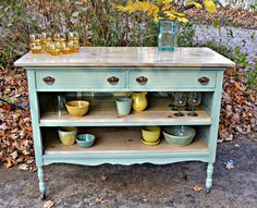 Kitchen Island Made From A Dresser one of a kind kitchen island made from a repurposed solid hardwood