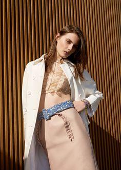 Charlotte Wiggins by Cihan Öncü for Harper's Bazaar Turkey May 2015 - Miu Miu Spring 2015